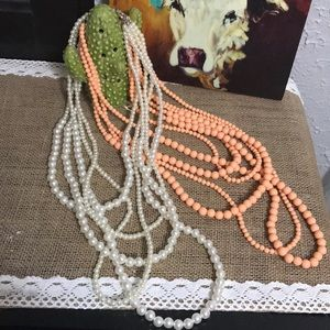 Jewelry - Bundle of two 5 strand necklaces
